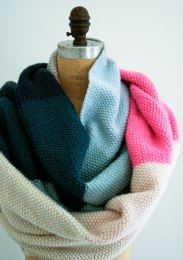 This photo is NOT MINE it is from The Purl Bee website, as my wrap is not finished yet